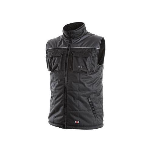 Pánská zimní vesta SEATLE, černo-šedá, vel. XL