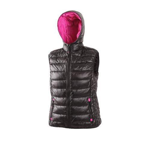 Dámská zimní vesta OMAK, černo-růžová, vel. XL