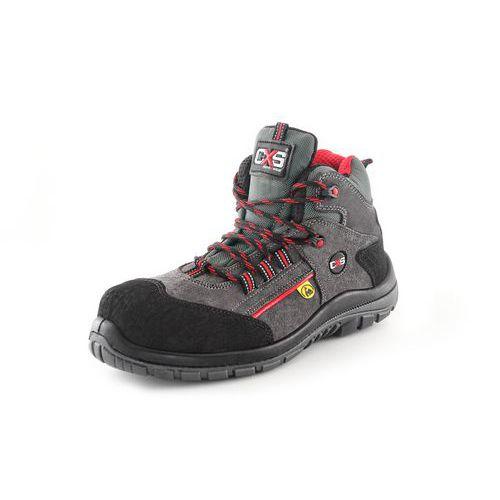 Kotníková obuv s plastovou špicí GRAFTONITE S1P