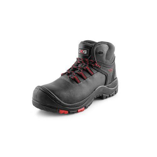 Pracovní kožené kotníkové boty CXS Rock Granite, černé, vel. 50