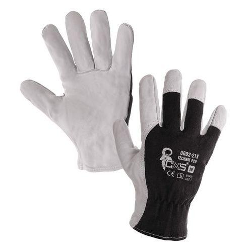 Kombinované rukavice TECHNIK ECO, černo-bílé, vel. 10