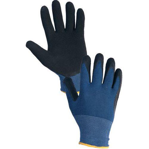 Povrstvené rukavice MAGNA, modro-černé, vel. 08