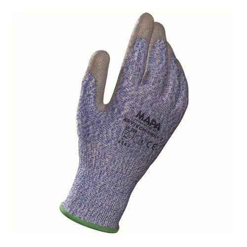 Polyetylenové rukavice Mapa Krytech polomáčené v polyuretanu, modré/šedé