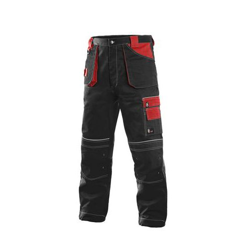 Kalhoty do pasu ORION TEODOR, zimní, pánské, černo-červené, vel. 44-46