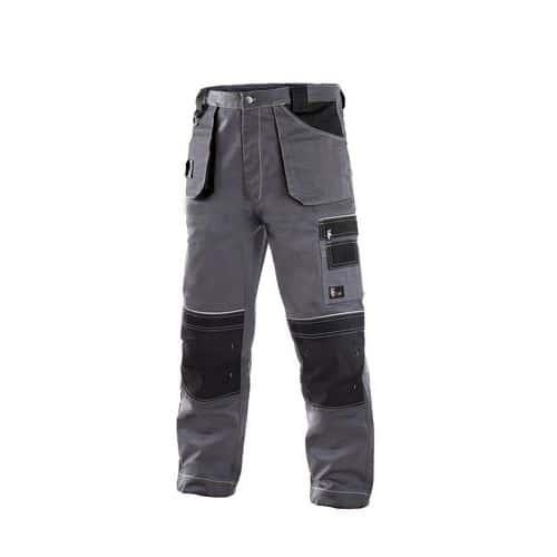 Kalhoty do pasu ORION TEODOR, zimní, prodloužené, pánské, šedo-černé
