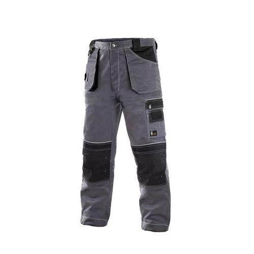 Kalhoty do pasu CXS ORION TEODOR, 170-176cm, pánské, šedo-černé, vel. 46