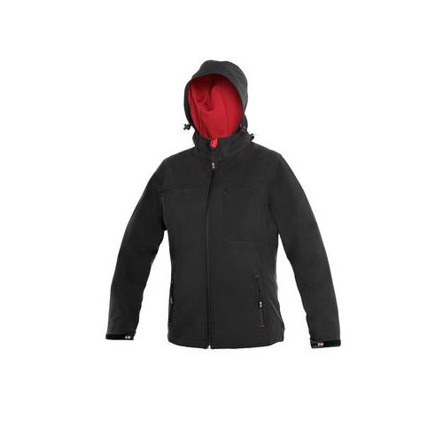 Dámská softshell bunda DIGBY, černá, vel. 3XL