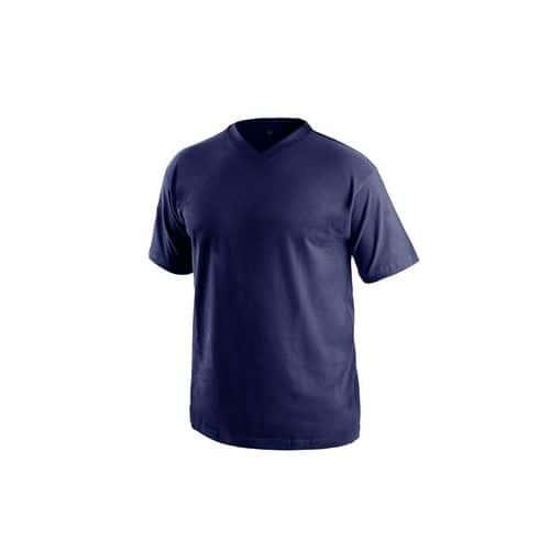 Tričko s krátkým rukávem DALTON, výstřih do V, tmavě modrá, vel.