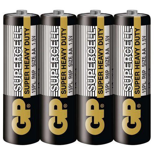 Zinkouhlíková baterie GP Supercell R6 (AA) fólie