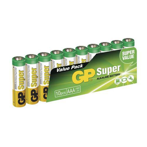 GP Super Alkaline AAA 10ks 1013100102