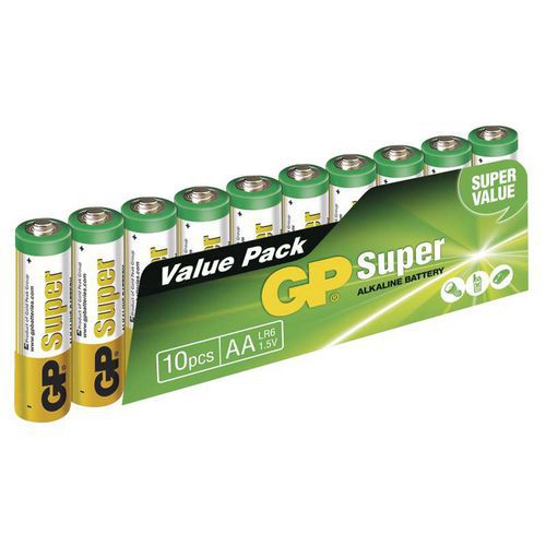 GP Super Alkaline AA 10ks 1013200102