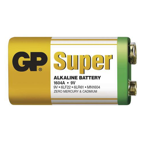 Baterie GP Super Alkaline 9V 1ks