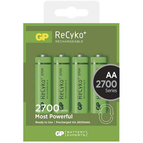 Nabíjecí baterie GP ReCyko plus 2700 HR6 (AA), krabička