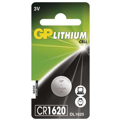 Lithiová knoflíková baterie GP CR1620, blistr