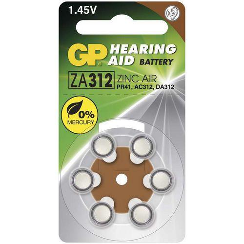 Baterie do naslouchadel GP ZA312, blistr