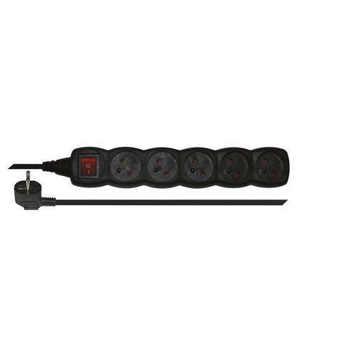 Emos Prodlužovací kabel s vypínačem 5 zásuvek 3m, černý