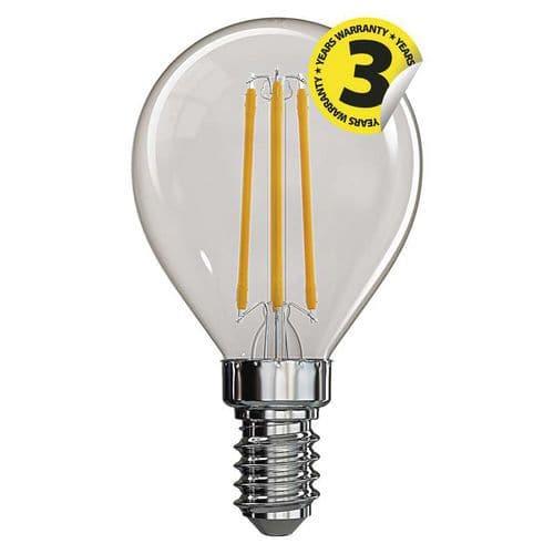 LED žárovka Filament Mini Globe A++ 4W E14 neutrální bílá