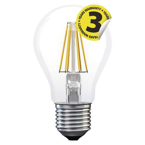 LED žárovka Filament A60 A++ 8W E27 neutrální bílá