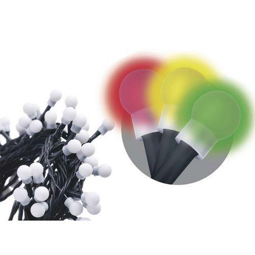 80 LED řetěz - kuličky, 8m, IP44, multicolor, programy