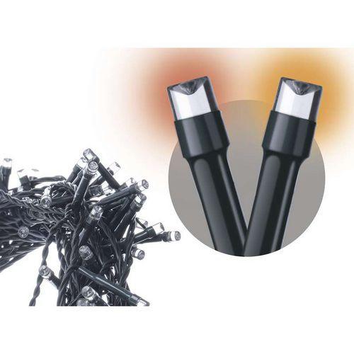 120 LED řetěz pulzující, 12m, IP44, jantarová, časovač