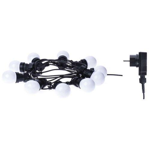 LED řetěz - párty žárovky mléčné, 5m, IP44, teplá bílá