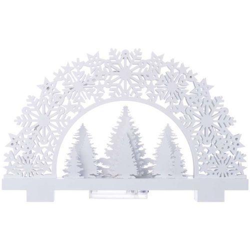LED dekorace - stojánek stromky, 2xAA, teplá bílá, časovač