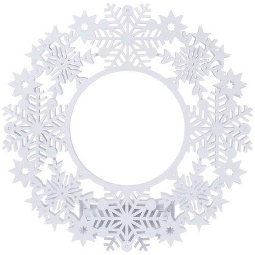LED dekorace - věnec, 2xAA, IP20, teplá bílá, časovač