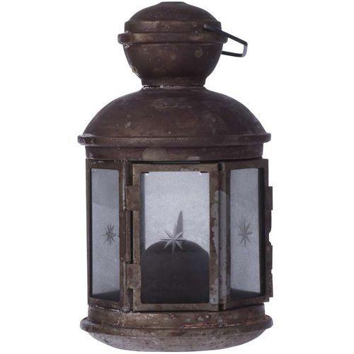 LED dekorace - lucerna vintage, 3xAA, teplá bílá, časovač