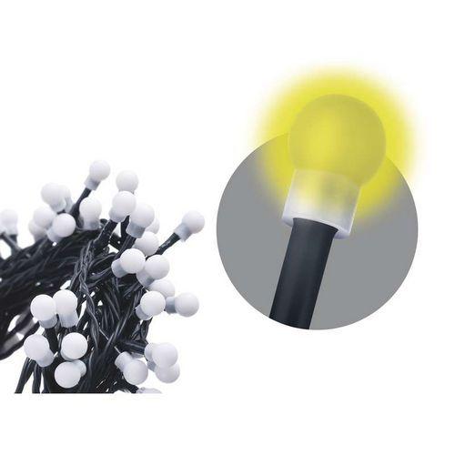 100 LED řetěz - kuličky, 5m, IP20, teplá bílá