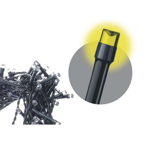 Spojovací řetěz 100 LED - krápníky, teplá bílá