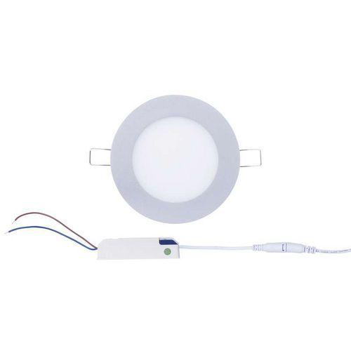 LED panel 120mm, kruhový vestavný stříbrný, 6W neutr. bílá