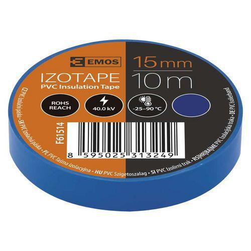 Elektroizolační PVC páska Emos, šířka 15 mm, 10 ks, modrá