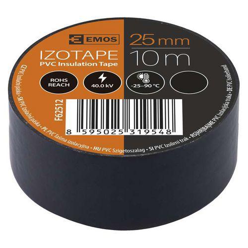 Elektroizolační PVC páska Emos, šířka 25 mm, 10 ks, černá
