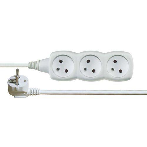 Prodlužovací kabel bílý 3 zásuvky 7m