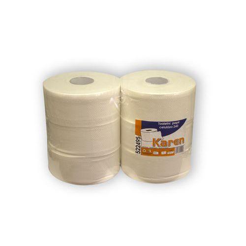 Toaletní papír Karen 2vrstvý, 200 m, 100% bílý, 6 ks