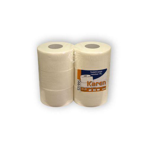 Toaletní papír Karen 2vrstvý, 130 m, 100 % bílý, 6 ks