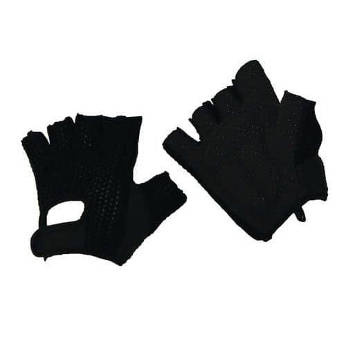 Bavlněné rukavice Manutan s terčíky, černé, vel. 10