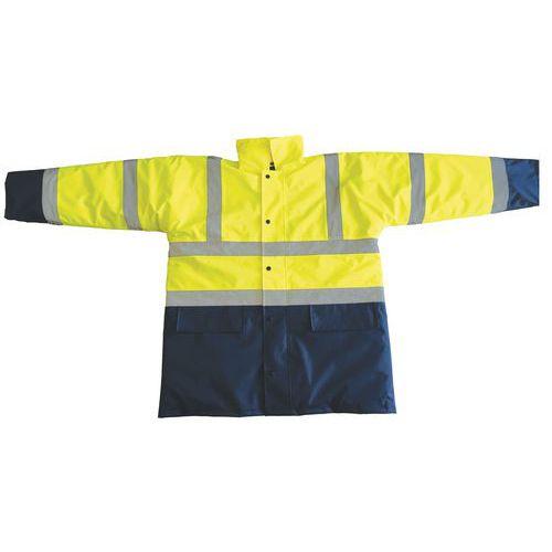 Reflexní bunda Manutan, žlutá/modrá, vel. XL