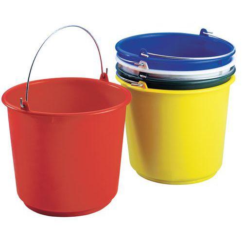 Plastové kbelíky Manutan, 5 x 12 l
