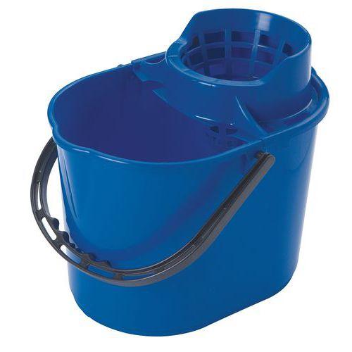 Plastový kbelík Manutan se ždímačem, 12 l