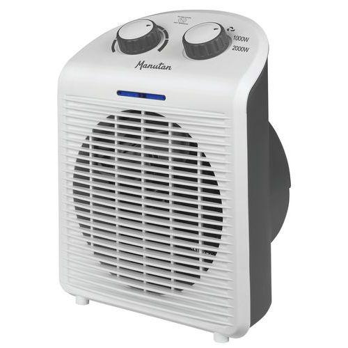 Topný ventilátor Manutan Safe-T, 2 000 W, Max. topný výkon: 2000 W, Barva: Bílá, Min. topný výkon: 1
