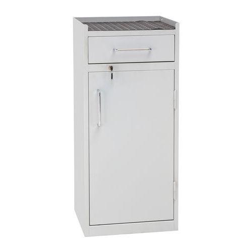 Dílenská skříň na nářadí Manutan, 98 x 43 x 34 cm, šedá/šedá