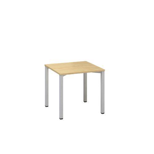 Kancelářský stůl Alfa 200, 80 x 80 x 74,2 cm, rovné provedení, dezén divoká hruška, RAL9022
