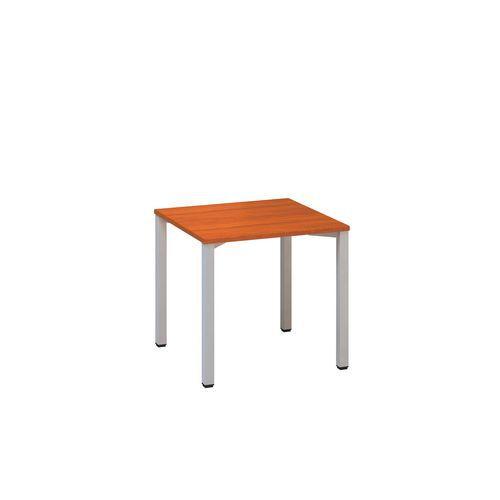 Kancelářský stůl Alfa 200, 80 x 80 x 74,2 cm, rovné provedení, dezén třešeň, RAL9022