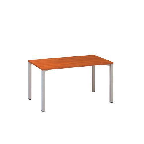 Kancelářský stůl Alfa 200, 140 x 80 x 74,2 cm, rovné provedení, dezén třešeň, RAL9022