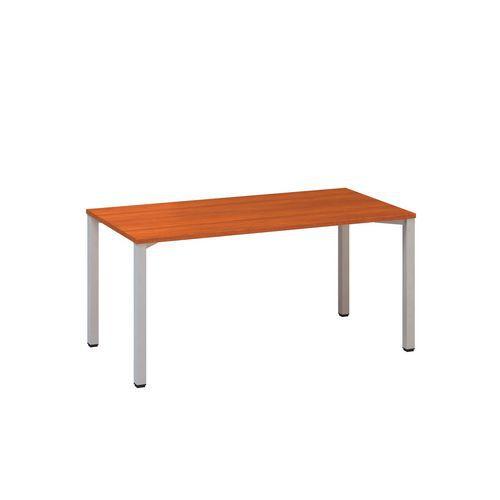 Alfa Office Kancelářský stůl Alfa 200, 160 x 80 x 74,2 cm, rovné provedení, dezén třešeň, RAL9022 - Prodloužená záruka na 10 let