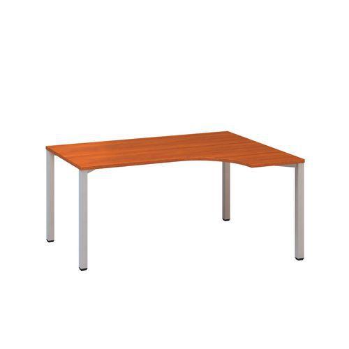 Ergo kancelářský stůl Alfa 200, 180 x 120 x 74,2 cm, pravé provedení, dezén třešeň, RAL9022