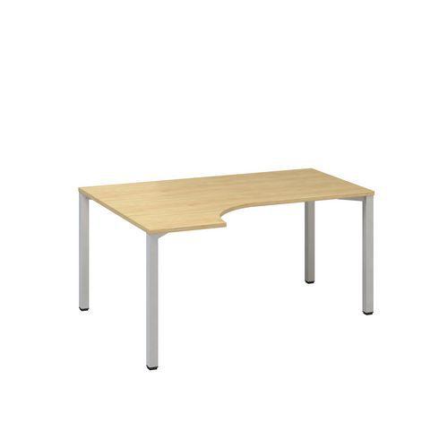 Ergo kancelářský stůl Alfa 200, 180 x 120 x 74,2 cm, levé provedení, dezén divoká hruška, RAL9022