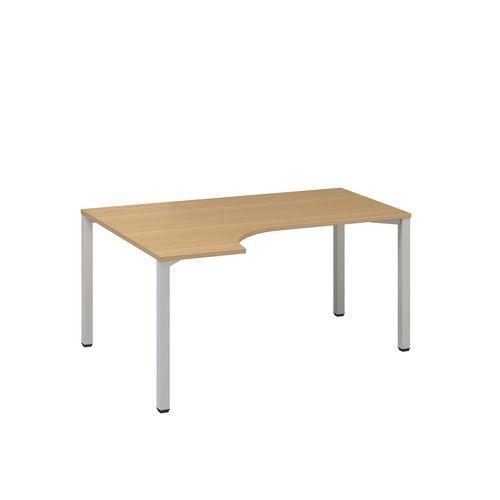 Ergo kancelářský stůl Alfa 200, 180 x 120 x 74,2 cm, levé provedení, dezén buk, RAL9022