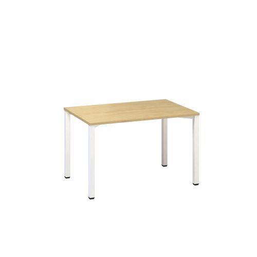 Alfa Office Kancelářský stůl Alfa 200, 120 x 80 x 74,2 cm, rovné provedení, dezén divoká hruška, RAL9010 - Prodloužená záruka na 10 let